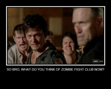 Daryl Dixon (Norman Reedus) and his brother Merle (Michael Rooker) in AMC's The Walking Dead