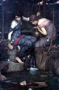 Nymphs Finding the Head of Orpheus, by John William Waterhouse (1900)
