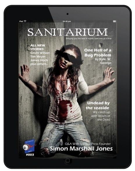 Issue 3 of horror magazine Sanitariums is now available!