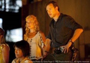 Andrea (Laurie Holden) and the Governor (David Morrissey) party hard in AMC's The Walking Dead