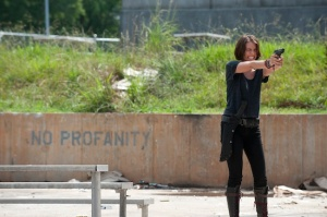 Lauren Cohan as Maggie Greene in AMD's The Walking Dead