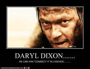Daryl Dixon can win Connect 4 in 3 moves