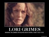 Lori ( Sarah Wayne Callies) on AMC's The Walking Dead