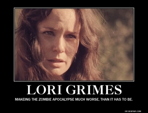Lori ( Sarah Wayne Callies) on AMC's The Walking Dead