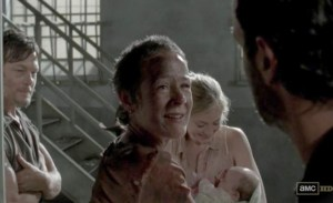 Carol's (Melissa McBride) back in AMC's The Walking Dead