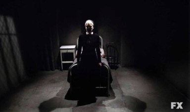Sister Mary Eunice (Lily Rabe) in Episode 7 of FX's American Horror Story: Asylum