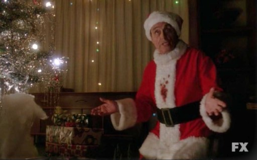 Killer Santa (Ian McShane) in Episode 8 of FX's American Horror Story: Asylum