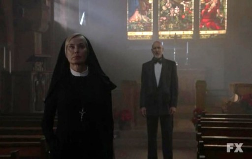 Dr. Arden (James Cromwell) in Episode 8 of FX's American Horror Story: Asylum