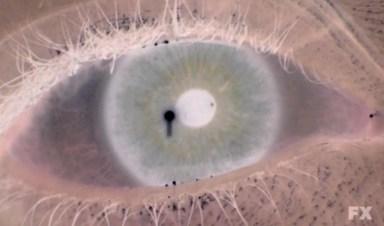 Grace's eye (Lizzie Brochere) in episode 11 of FX's American Horror Story: Asylum