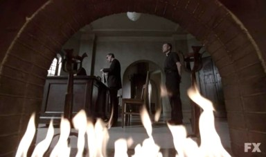 The Monsignor shows his true colours in episode 11 of FX's American Horror Story: Asylum