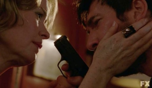 The fates are decided between Lana (Sarah Paulson) and Johnny (Dylan McDermott) in FX's American Horror Story: Asylum