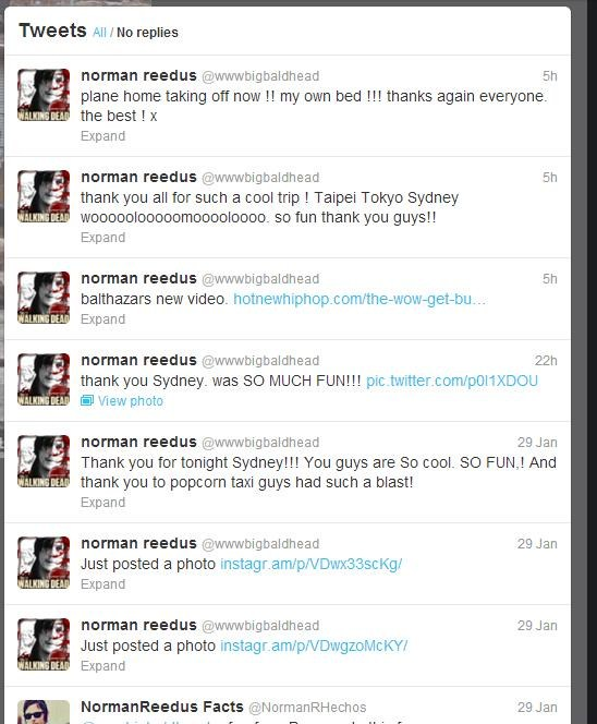 Norman Reedus Twitter feed