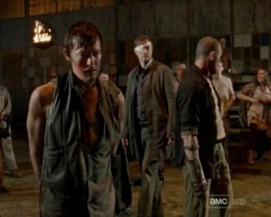 Daryl Dixon (Norman Reedus) vs. Merle Dixon (Michael Rooker) in episode 9 of AMC's The Walking Dead