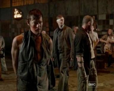 Daryl Dixon (Norman Reedus) vs. Merle Dixon (Michael Rooker) in episode 9 of AMC's The Walking Dead