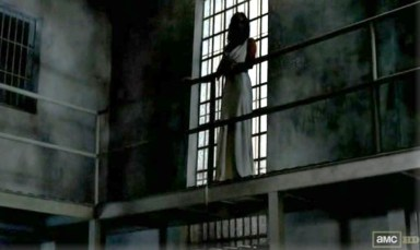 The Ghost of Lori (Sarah Wayne Callies) returns in episode 9 of AMC's The Walking Dead