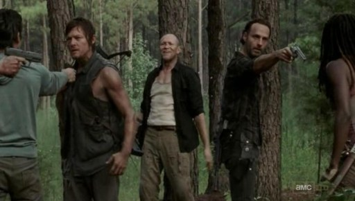 Daryl Dixon (Norman Reedus) and his brother Merle in episode 9 of AMC's The Walking Dead