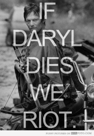 Daryl Dixon Riot Meme (Episode 15 of AMC's The Walking Dead)