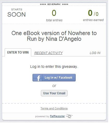 Nowhere to Run Rafflecopter Giveaway