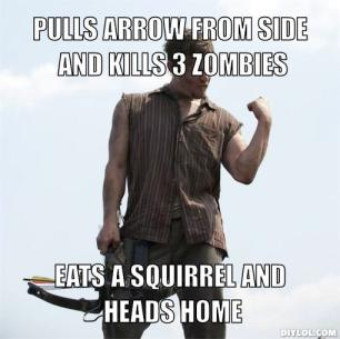 Daryl Dixon Meme for Season 2, Episode 5 in AMC's The Walking Dead