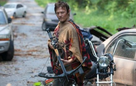 Daryl Dixon's (Norman Reedus) crossbow in AMC's The Walking Dead