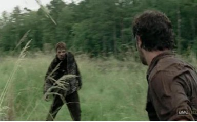 Recurring zombie man meets Rick (Andrew Lincoln) in episode 10 of AMC's The Walking Dead