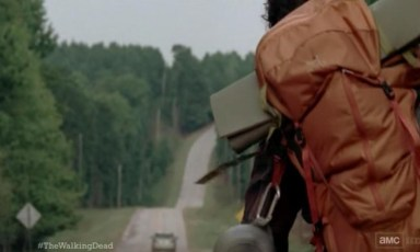 Is the Hitch-Hiker in Episode 12 of AMC's The Walking Dead in honour of Stephen King's story, The Hitch-Hiker?