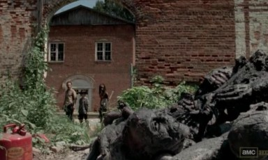 Rick finds dead people in Episode 12 of AMC's The Walking Dead