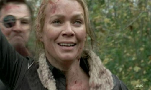 Andrea (Laurie Holden) and the Governor (David Morrissey) in Episode 14 of AMC's The Walking Dead