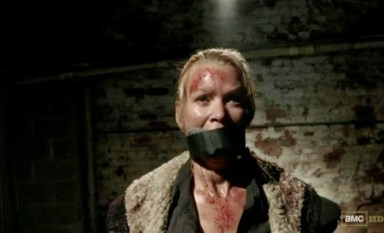 Andrea (Laurie Holden) gets caught in Episode 14 of AMC's The Walking Dead