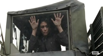 Karen (Melissa Ponzio) gets resuced in EPisode 16 of AMC's The Walking Dead