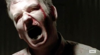 Milton (Dallas Roberts) reanimates in Episode 6 of AMC's The Walking Dead