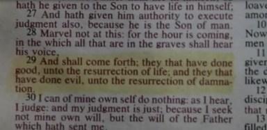 Hershel's (Scott Wilson) bible in episode 16 of AMC's The Walking Dead