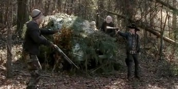 Carl (Chandler Riggs) gets tough in Episode 6 of AMC's The Walking Dead