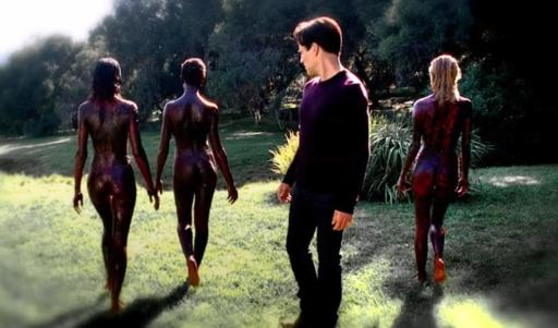Bill sees red people in HBO's True Blood Season 6, Episode 2, entitled 'The Sun'