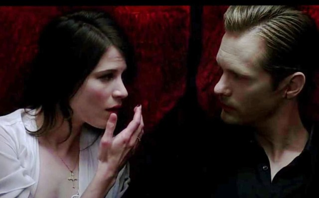 Willa (Amelia Rose Blaire) and Eric Northman get cosy in HBO's True Blood Season 6, EPisode 3, entitled 'You're No Good'