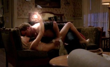 Sookie (Anna Paquin) goes all fairy light balls on Ben/Warlow's arse in HBO's True Blood Season 6, Episode 4, entitled 'At Last'
