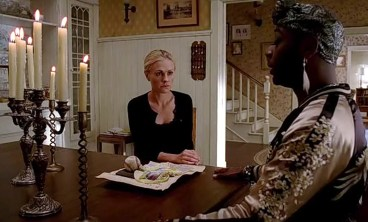Sookie (Anna Paquin) calls on Lafayette (Nelsan Ellis) in HBO's True Blood Season 6, Episode 5, entitled 'Fuck the Pain Away'