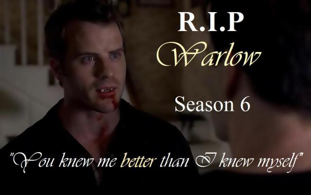 RIP Warlow (Robert Kazinsky)