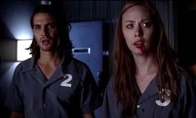 Jessica (Deborah Ann Woll) and James (Luke Grimes) go back for Billith (Stephen Moyer) in HBO's True Blood Season 6, Episode 9, entitled 'Life Matters'