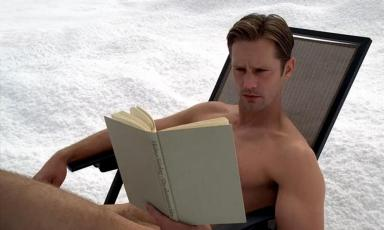 Eric Northman (Alexander Skarsgard) sunbathes naked in Sweden in HBO's True Blood Season 6, Episode 10, entitled 'Radioactive'