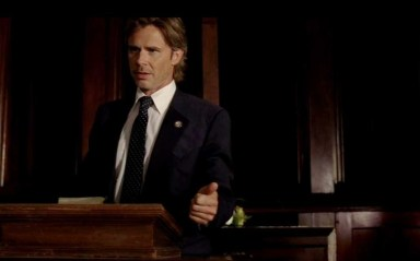 Mayor Sam Merlotte (Sam Trammel) in HBO's True Blood Season 6, Episode 10, entitled 'Radioactive'