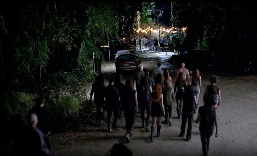 The hungry vampire swarm approaches Bon Temps in HBO's True Blood Season 6, Episode 10, entitled 'Radioactive'