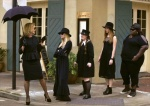 Jessica Lange, Taissa Farmiga, Jamie Brewer, Gabourey Sidibe and Jamie Brewer star in FX's American Horror Story: Coven
