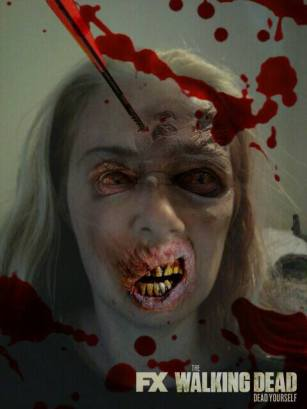 @mrszoomby gets infected by The Walking Dead and the Dead Yourself app