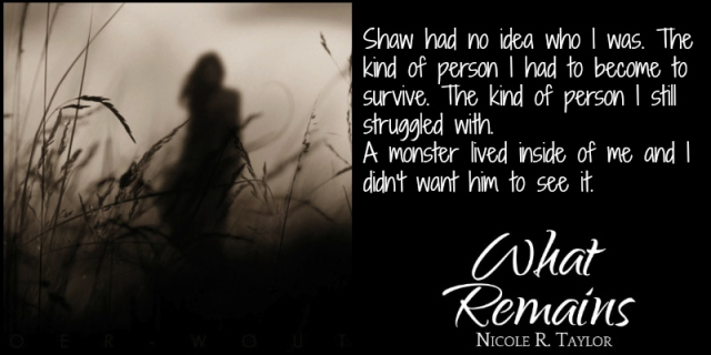 What Remains by Nicole R. Taylor Book Postcard 1 (Prue2)