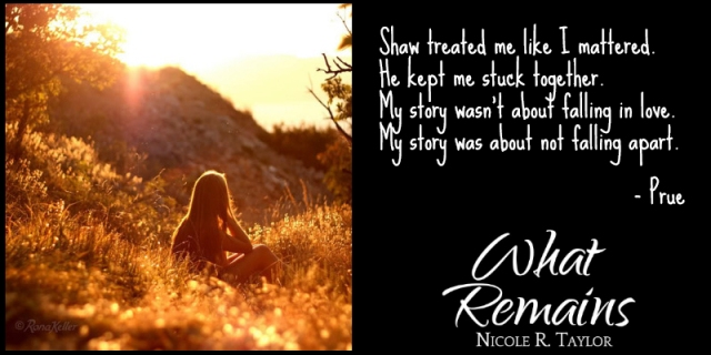 What Remains by Nicole R. Taylor Book Postcard 2 (Prue3)