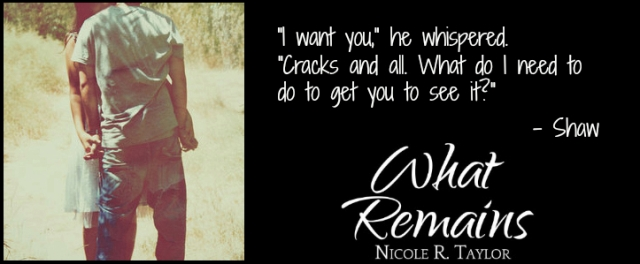 What Remains by Nicole R. Taylor Book Postcard 5 (PrueShaw5)