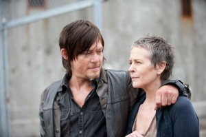 The Walking Dead Season 4 premiere - Daryl (Norman Reedus) & Carol (Melissa McBride) get cozy