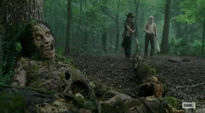A walker in the woods in AMC's The Walking Dead, Season 4, Episode 3, entitled 'Isolated'.