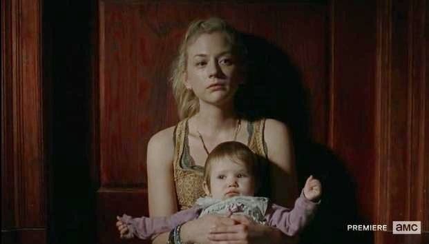 Beth isolates herself and Judith from infect in AMC's The Walking Dead, Season 4, Episode 3, entitled 'Isolated'.